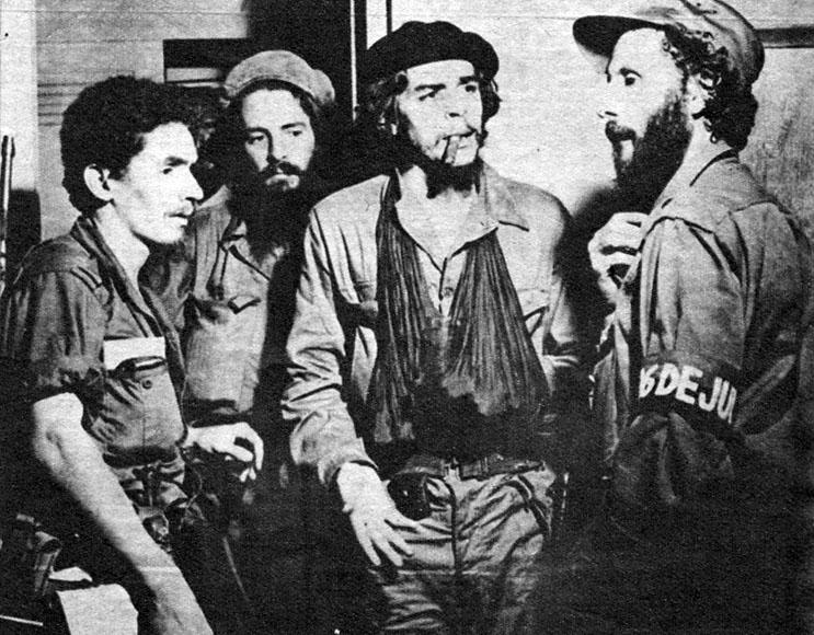 Ramiro Valdes, Camilo, Che Guevara och Carlos Franqui.